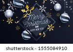 merry christmas   happy new... | Shutterstock .eps vector #1555084910