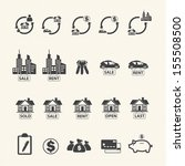 real estate icons. | Shutterstock .eps vector #155508500