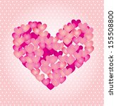 love hearts over pink...   Shutterstock .eps vector #155508800
