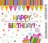 happy birthday card.... | Shutterstock .eps vector #155510570