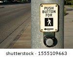 push button for walking cross... | Shutterstock . vector #1555109663