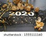 happy new year 2020. symbol... | Shutterstock . vector #1555111160