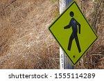 warning walking sign board that ... | Shutterstock . vector #1555114289