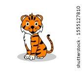 tiger and smile logo design | Shutterstock . vector #1555127810