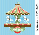 Greeting Card With Merry Go...