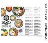 menu thai food design template... | Shutterstock .eps vector #1555137146
