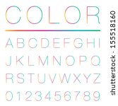 colorful alphabet  uppercase    ... | Shutterstock .eps vector #155518160