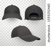 Black Baseball Caps Realistic...
