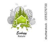 logo design template of tree... | Shutterstock .eps vector #1555270733