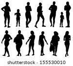 collection of silhouettes of... | Shutterstock .eps vector #155530010