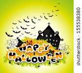 happy halloween colored... | Shutterstock . vector #155538380