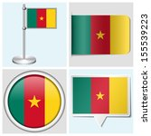 cameroon flag   set of various... | Shutterstock . vector #155539223