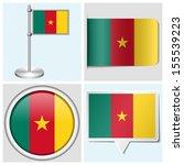 cameroon flag   set of various... | Shutterstock . vector #155539223