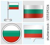 bulgaria flag   set of various... | Shutterstock . vector #155539226