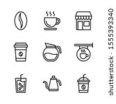 coffee shop outline vector icon ...