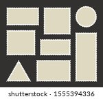 set blank postage stamp.toothed ... | Shutterstock .eps vector #1555394336