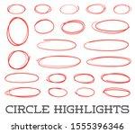 Highlight Circles Set. Raster...