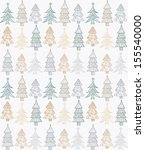 doodle textured christmas trees ... | Shutterstock . vector #155540000
