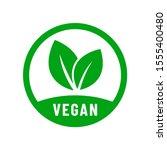 vegan vector icon. organic  bio ... | Shutterstock .eps vector #1555400480