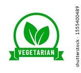 vegetarian vector icon. organic ... | Shutterstock .eps vector #1555400489