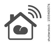 smart home vector icon with...