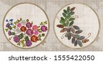 embroidery collection. summer...   Shutterstock .eps vector #1555422050