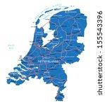 holland map | Shutterstock .eps vector #155543396