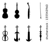 acoustic,classic,concert,electric,instrument,melody,music,object,orchestra,play,set,silhouette,sound,stringed,vector