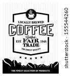 retro vintage coffee background ... | Shutterstock .eps vector #155544260