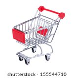 a shopping cart isolated on... | Shutterstock . vector #155544710