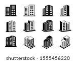 company icons set on white... | Shutterstock .eps vector #1555456220