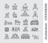 political election vector icons ... | Shutterstock .eps vector #1555458200