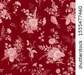 seamless pattern. autumn floral ... | Shutterstock .eps vector #1555477460