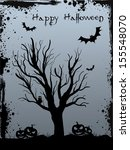 Halloween Background With Tree...