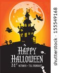 happy halloween poster | Shutterstock .eps vector #155549168