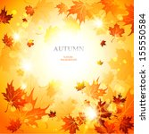 bright autumn  background with... | Shutterstock .eps vector #155550584
