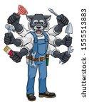 a wolf animal construction... | Shutterstock . vector #1555513883