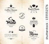 label set for restaurant menu... | Shutterstock .eps vector #155552576