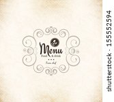 restaurant menu design | Shutterstock .eps vector #155552594