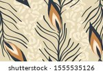 exotic pattern with leopard... | Shutterstock .eps vector #1555535126