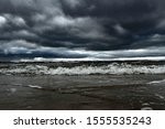 Stormy Day On Baltic Sea.