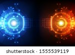 abstract futuristic digital...   Shutterstock .eps vector #1555539119