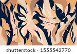 modern exotic jungle plants...   Shutterstock .eps vector #1555542770