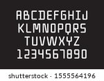 soft linear tube font  only... | Shutterstock .eps vector #1555564196