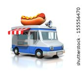 hot dog fast food car | Shutterstock . vector #155556470