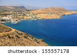 small village panormo at crete  ... | Shutterstock . vector #155557178