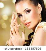 closeup beautiful face of... | Shutterstock . vector #155557508
