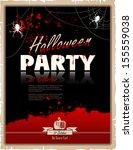 halloween party poster. happy...   Shutterstock .eps vector #155559038