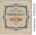 premium quality card. baroque... | Shutterstock .eps vector #155562410
