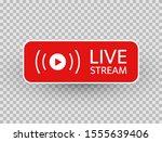 live stream icon. live... | Shutterstock .eps vector #1555639406